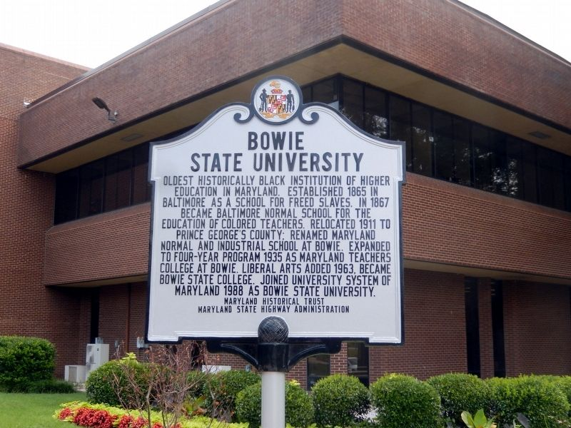 Bowie State University Marker image. Click for full size.