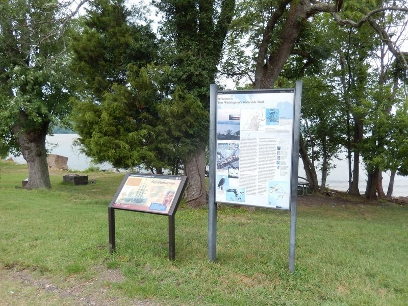 Welcome to Fort Washington's Waterside Trail Marker image. Click for full size.