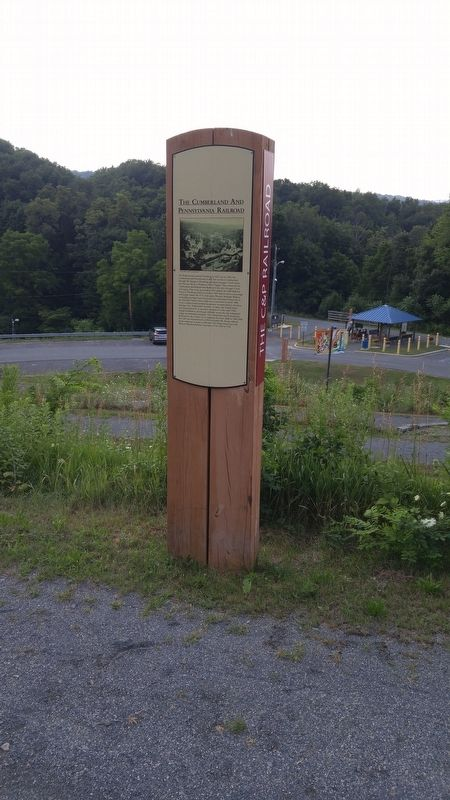 The Cumberland and Pennsylvania Railroad Marker image. Click for full size.