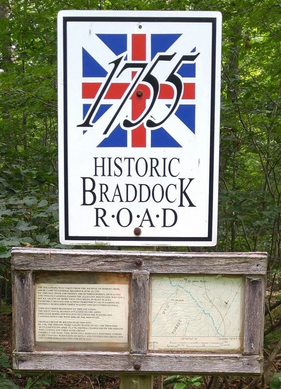 Historic Braddock Road Marker image. Click for full size.