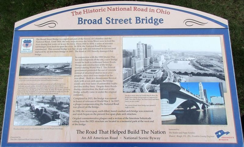 Broad Street Bridge Marker image. Click for full size.