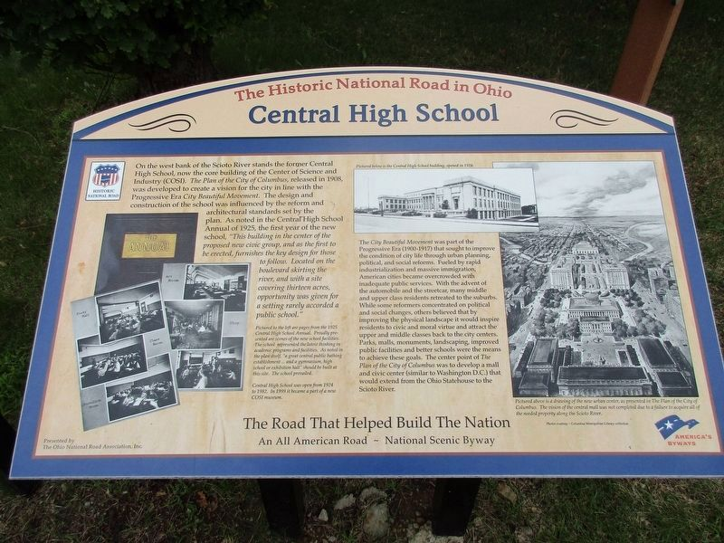 Central High School Marker image. Click for full size.