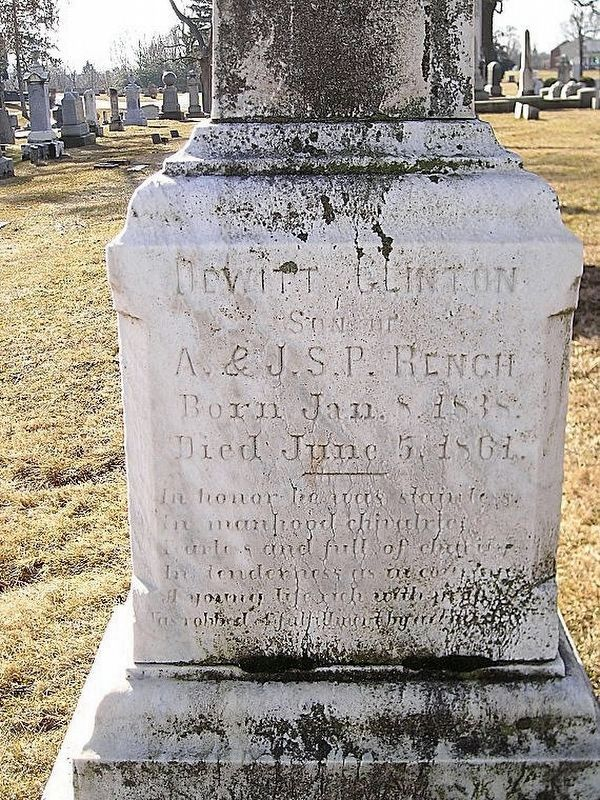 Dewitt Clinton Rench Gravesite image. Click for full size.