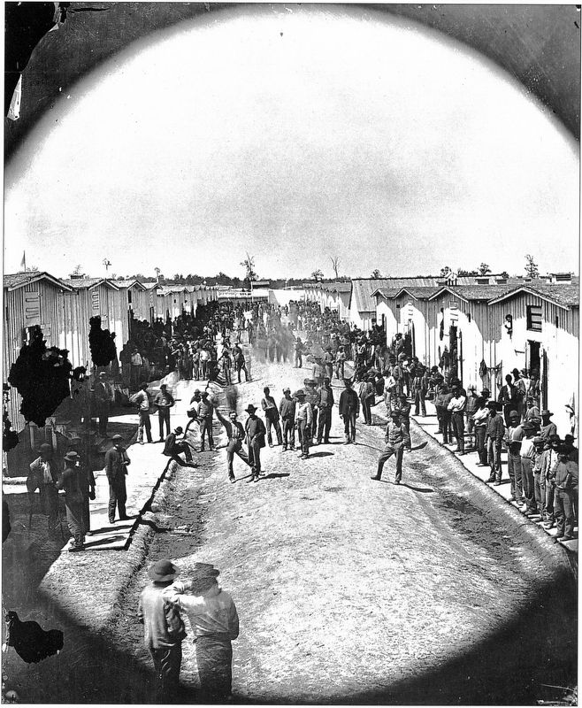 Prison interior, Camp Chase, ca. 1861-1865 image. Click for full size.