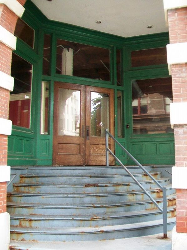 Harvey-Dutton Dry Goods Company Building Entrance image. Click for full size.