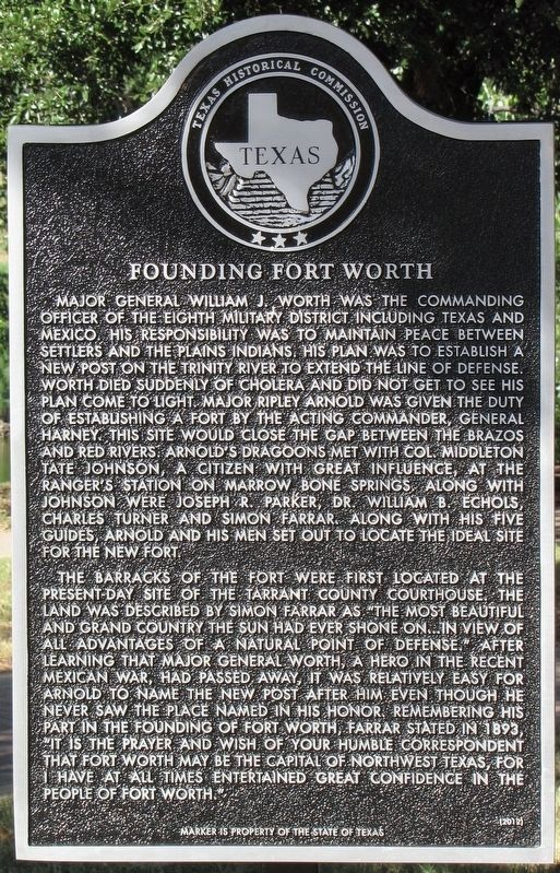 Founding Fort Worth Marker image. Click for full size.
