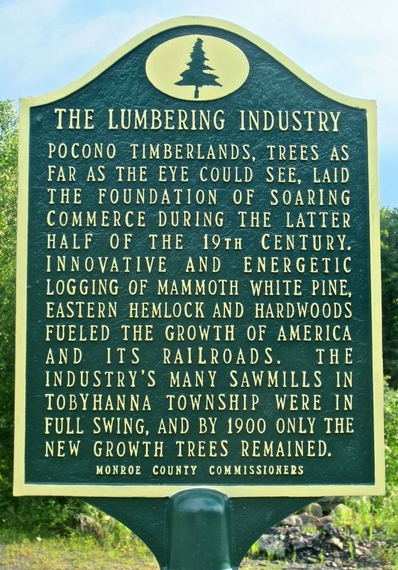 The Lumbering Industry Marker image. Click for full size.
