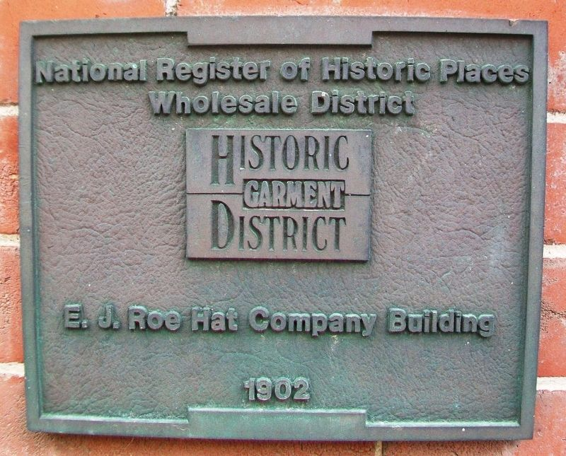 E. J. Roe Hat Company Building Marker image. Click for full size.