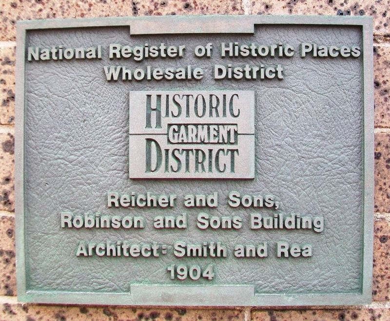 Reicher and Sons, Robinson and Sons Building Marker image. Click for full size.