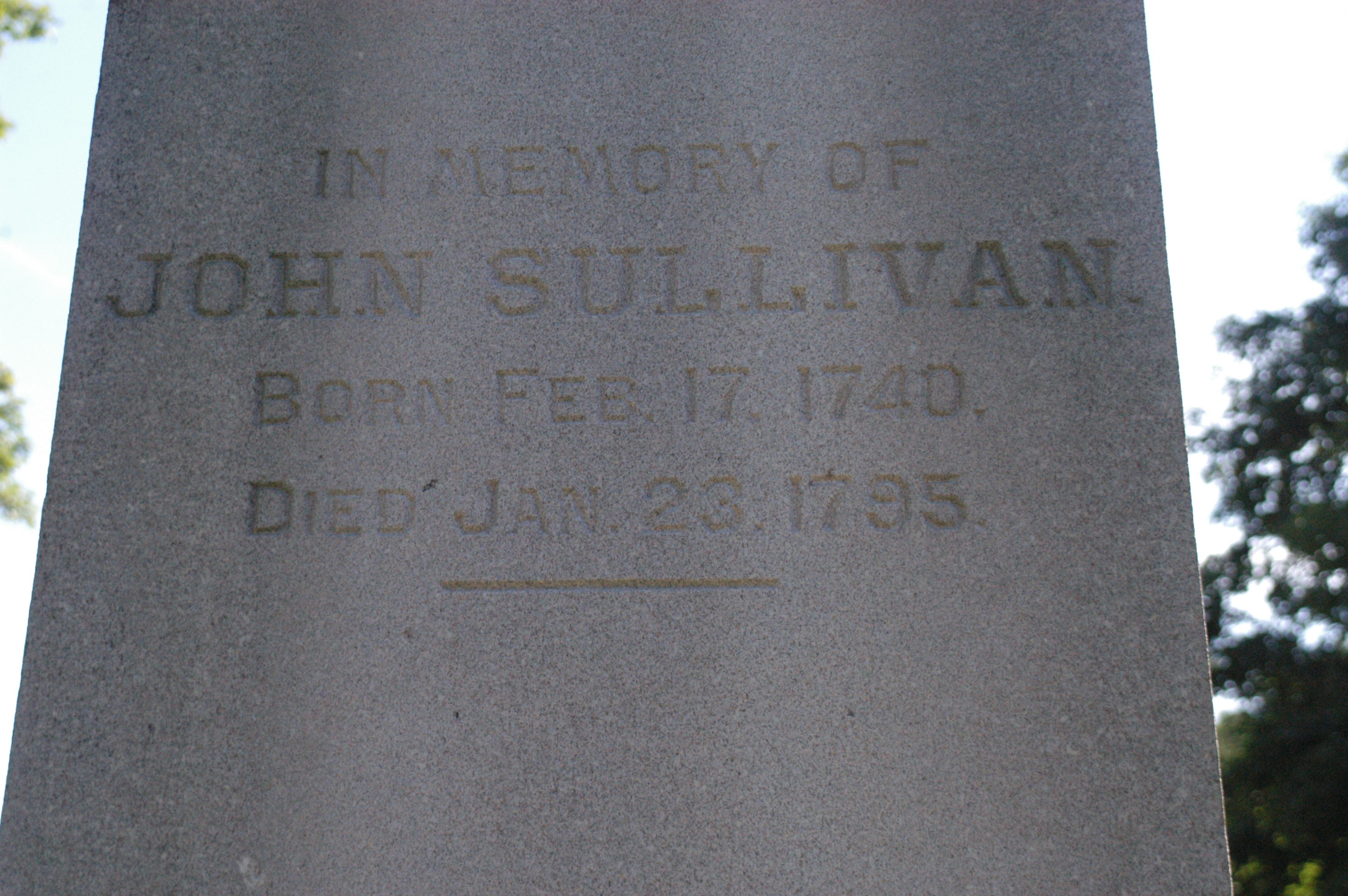 Major General John Sullivan Memorial Marker