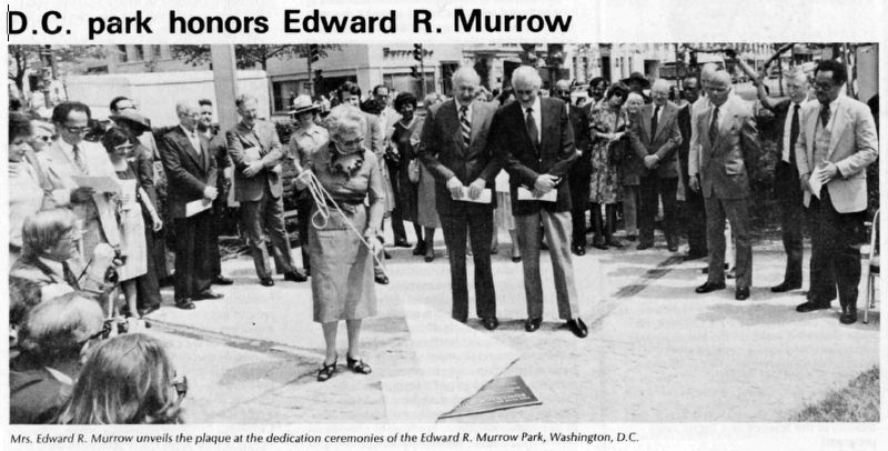 Edward R. Murrow Marker dedication image. Click for full size.