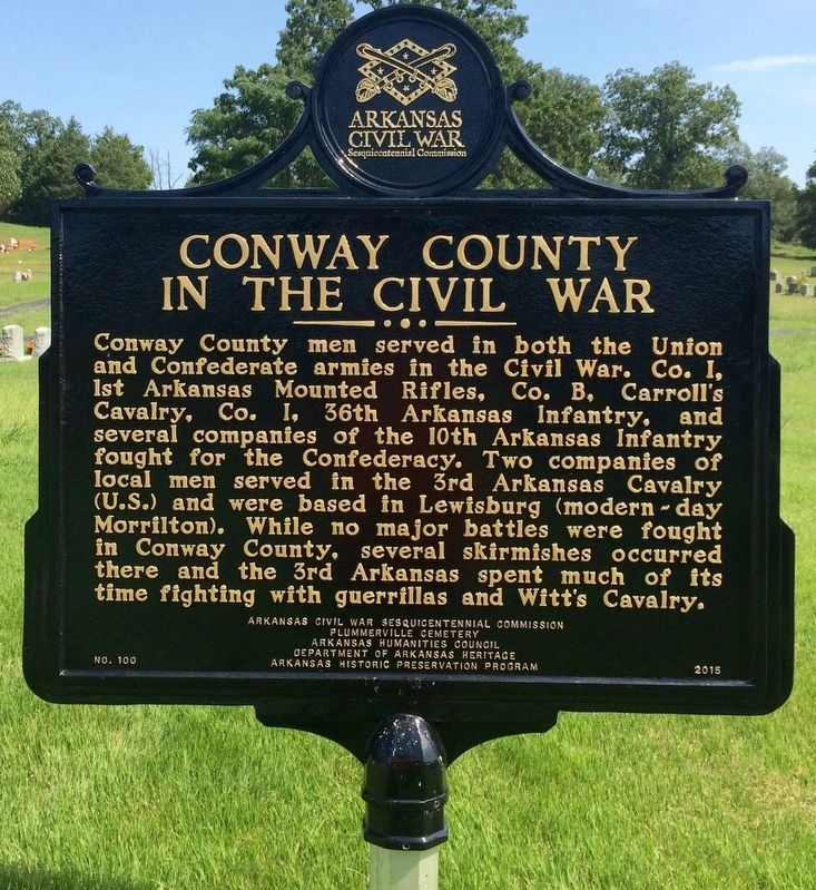 Conway County in the Civil War Marker image. Click for full size.