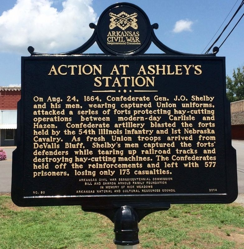 Action at Ashley's Station Marker image. Click for full size.