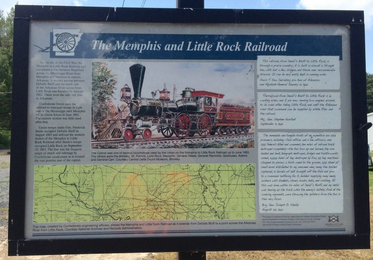Another nearby interpretive marker about the M&LR Railroad. image. Click for full size.