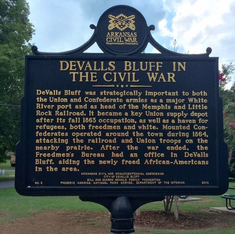 DeValls Bluff in the Civil War Marker image. Click for full size.