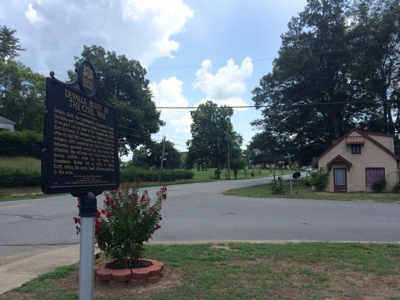View of marker looking south on Main Street. (AR-33) image. Click for full size.