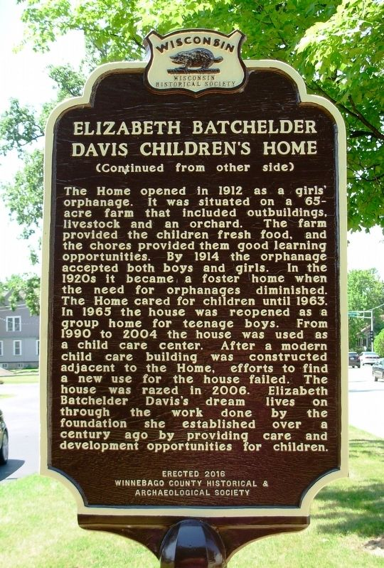 Elizabeth Batchelder Davis Children's Home Marker image. Click for full size.