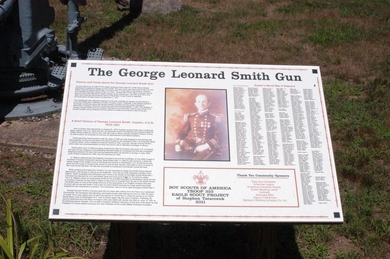 George Leonard Smith Gun Marker image. Click for full size.
