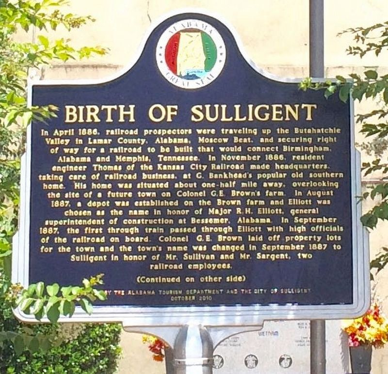 Birth of Sulligent Marker (Side 1) image. Click for full size.