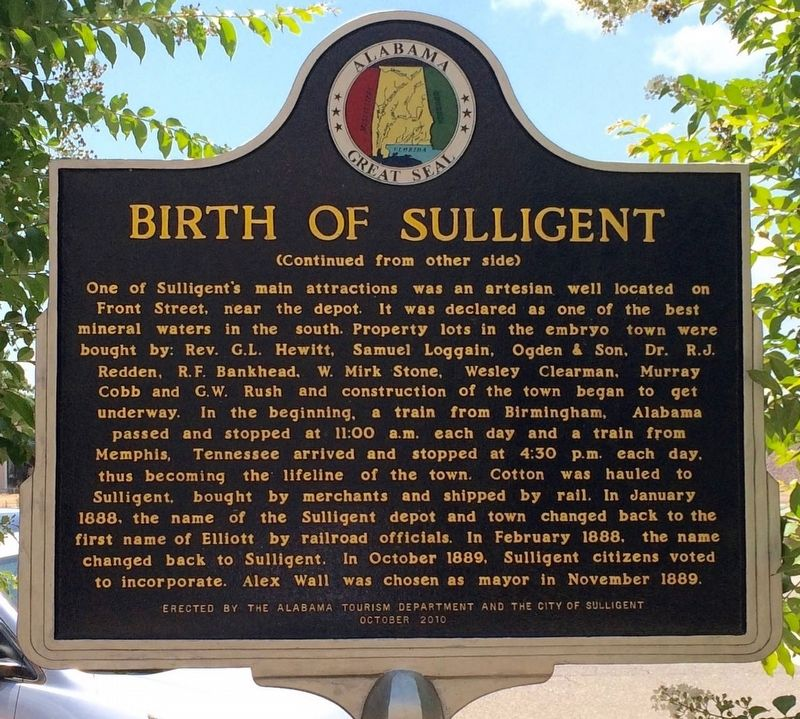 Birth of Sulligent Marker (Side 2) image. Click for full size.