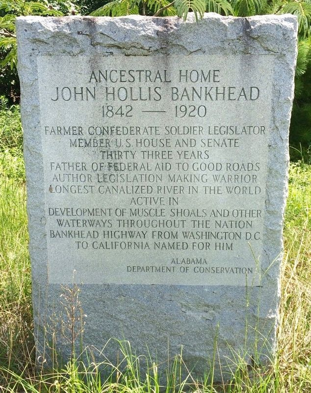 John Hollis Bankhead Marker image. Click for full size.