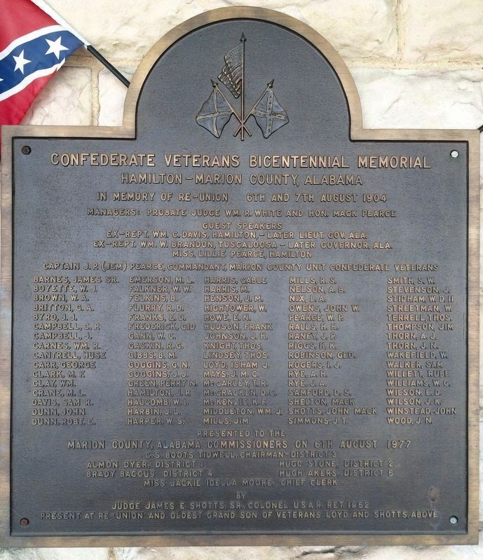 Confederate Veterans Bicentennial Memorial Marker (Closeup) image. Click for full size.