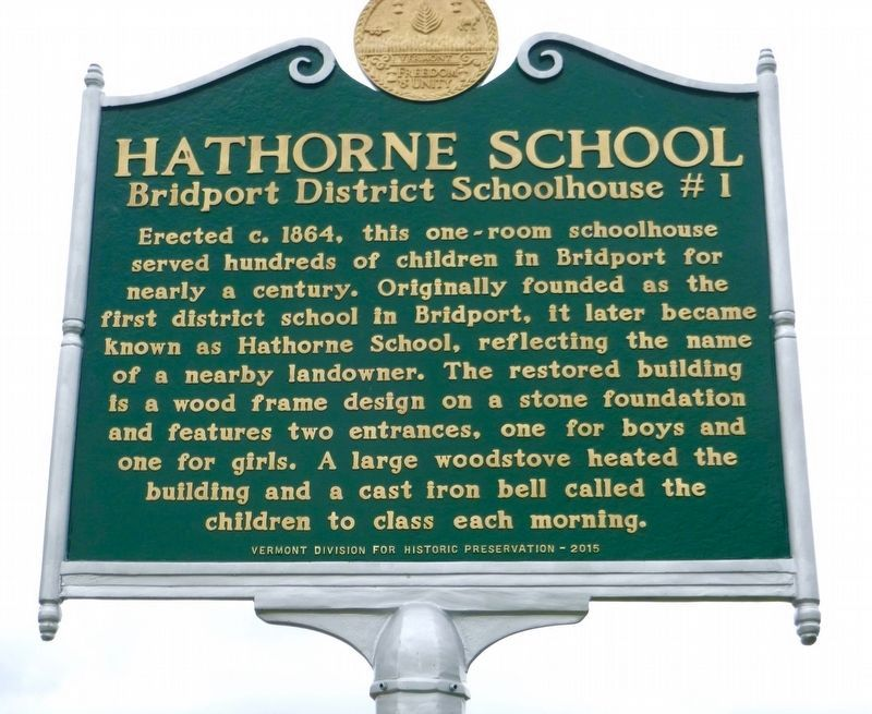 Hathorne School Marker image. Click for full size.