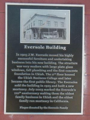 Eversole Building Marker image. Click for full size.