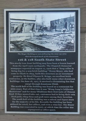 116 & 118 South State Street Marker image. Click for full size.