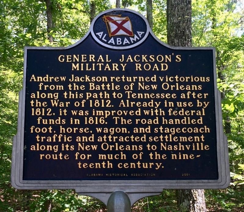 General Jackson's Military Road Marker image. Click for full size.