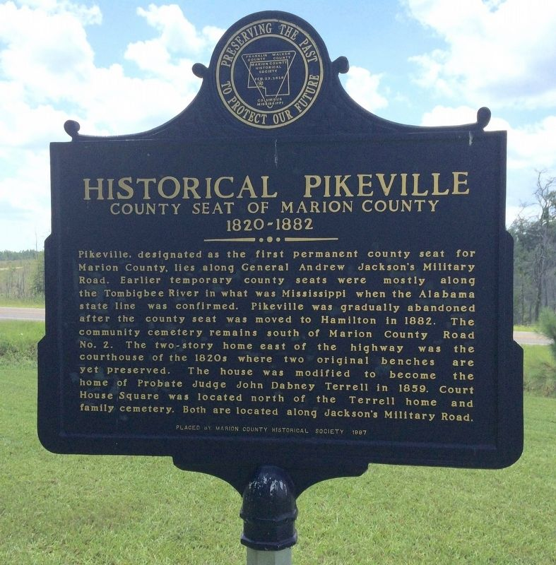 Historical Pikeville Marker image. Click for full size.