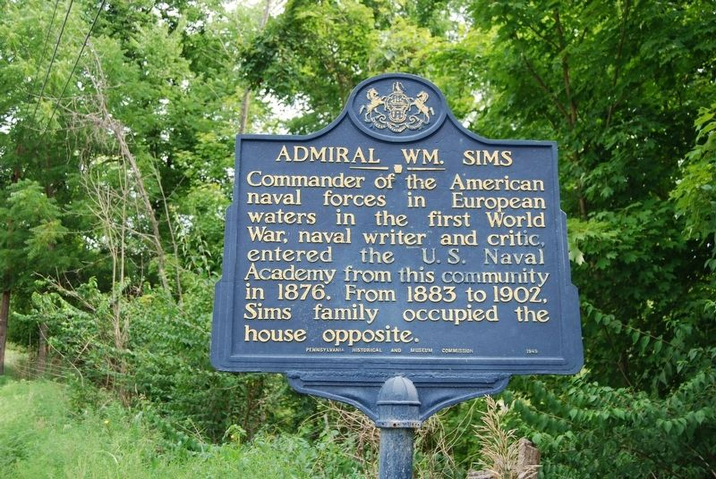 Admiral Wm Sims Marker image. Click for full size.
