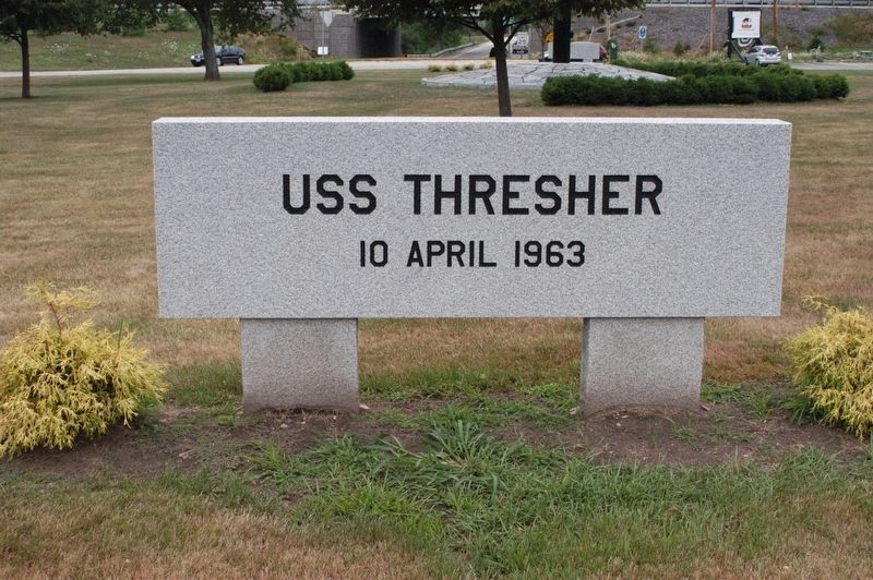 Kittery Maine USS Thresher (SSN 593) Memorial Marker image. Click for full size.