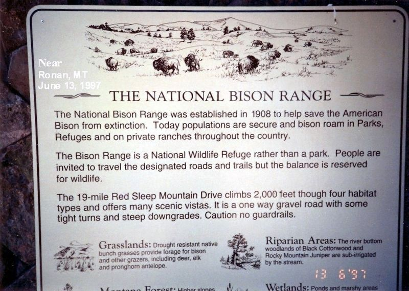 The National Bison Range Marker image. Click for full size.