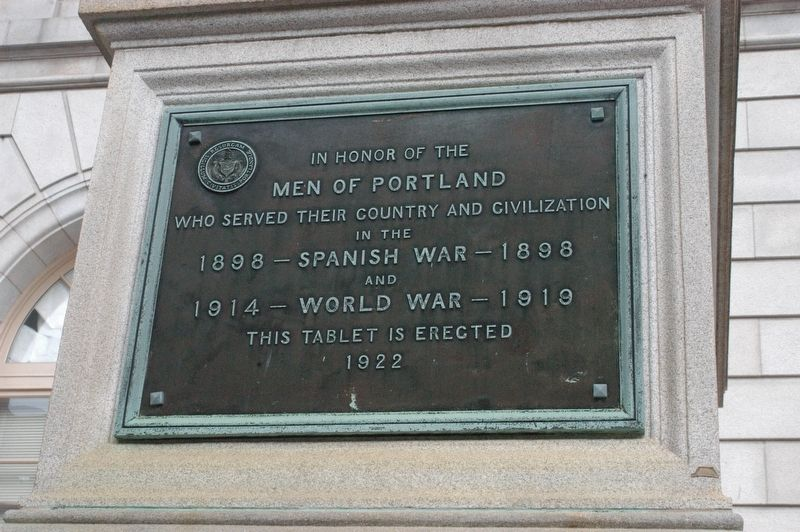 Portland Maine Spanish War Memorial Marker image. Click for full size.