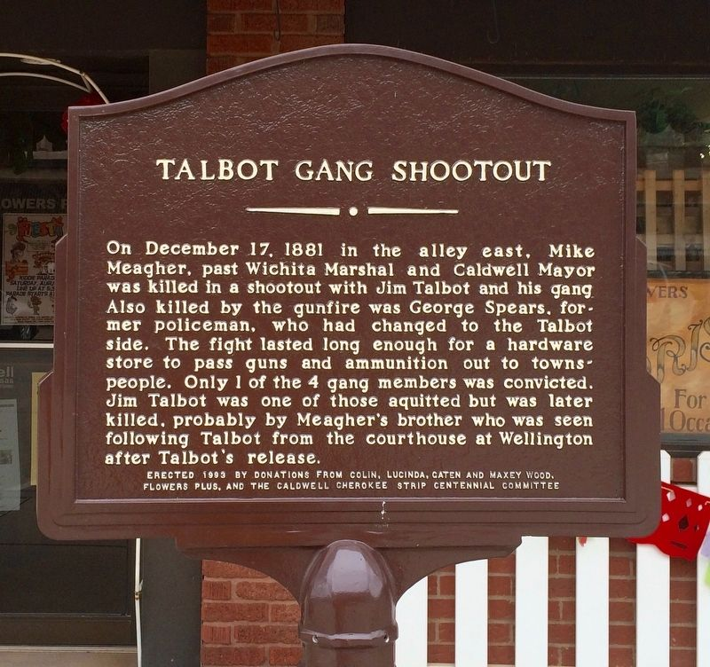 Talbot Gang Shootout Marker image. Click for full size.