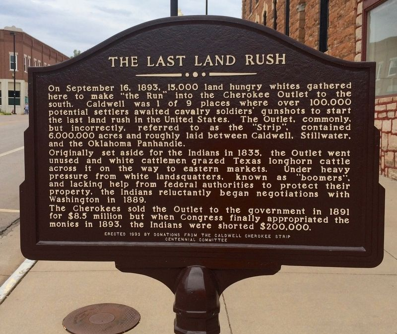The Last Land Rush Marker image. Click for full size.