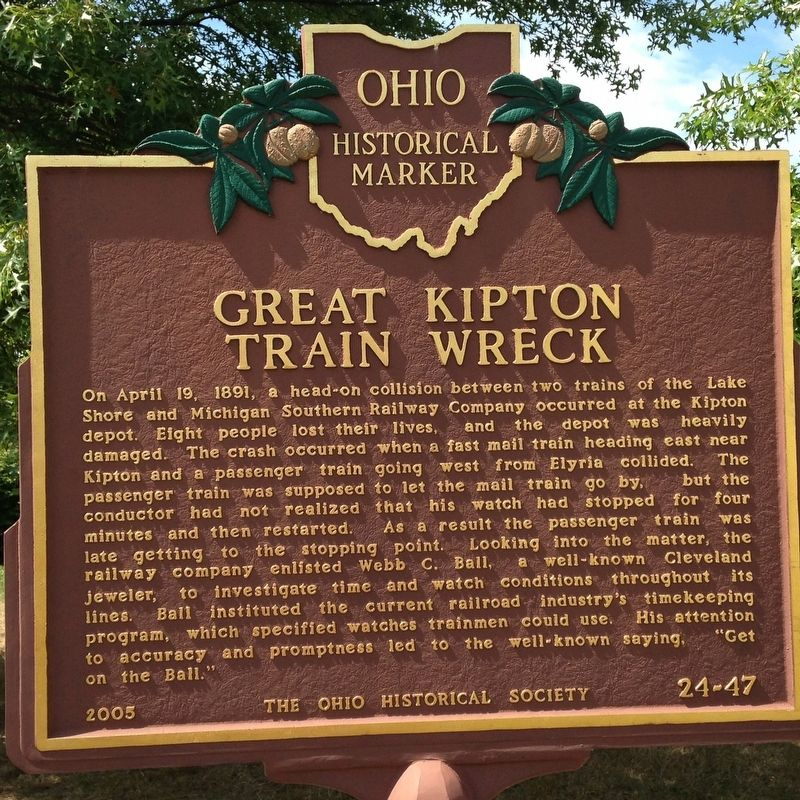 Great Kipton Train Wreck Marker image. Click for full size.
