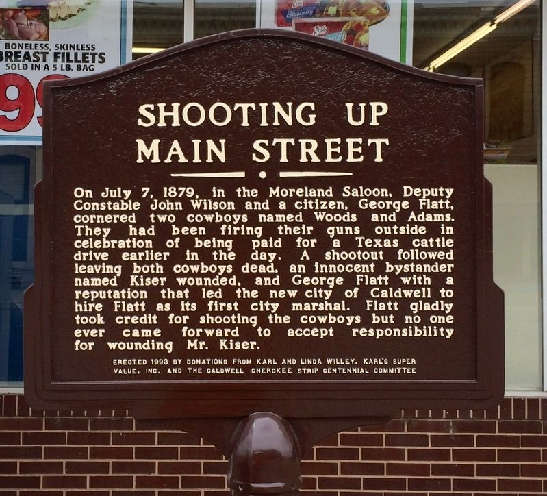 Shooting Up Main Street Marker image. Click for full size.