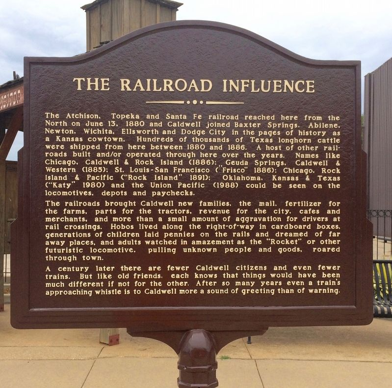 The Railroad Influence Marker image. Click for full size.