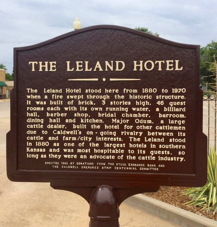 The Leland Hotel Marker image. Click for full size.
