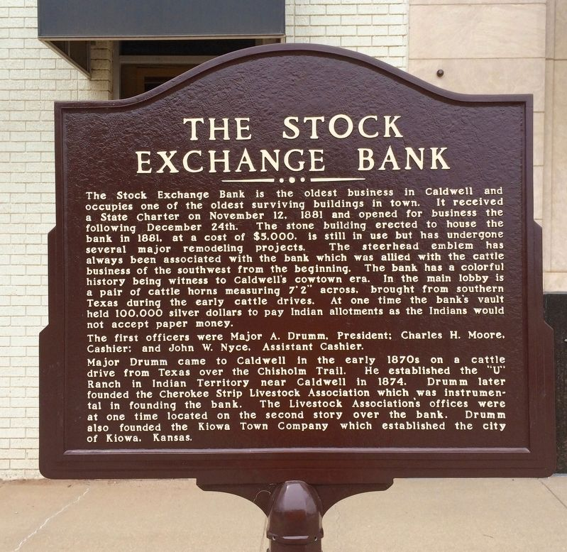The Stock Exchange Bank Marker image. Click for full size.
