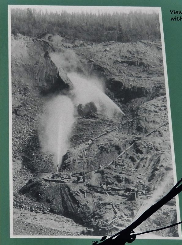 "Marker Detail: View of the LaGrange Mine with two ""Monitors"" working image. Click for full size."