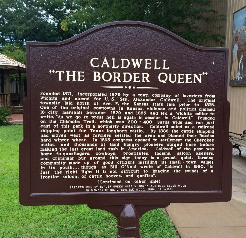 "Caldwell ""The Border Queen"" Marker image. Click for full size."