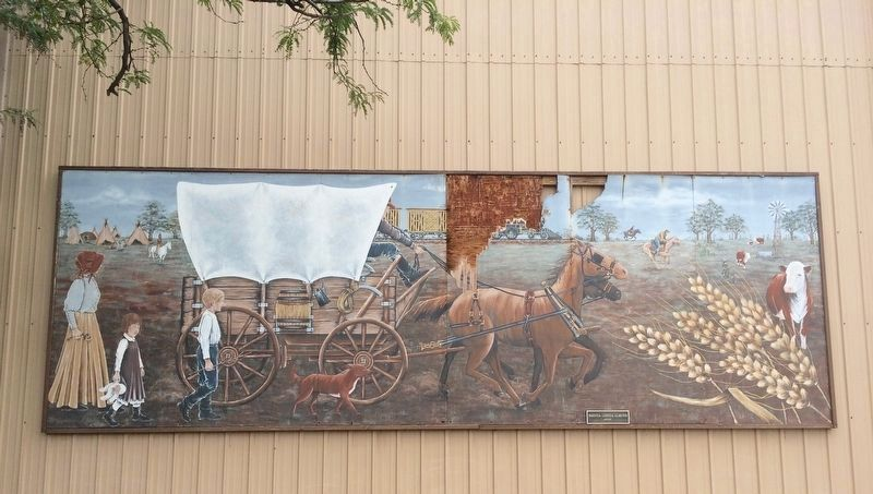 Nearby mural of Caldwell life in the 1800s. image. Click for full size.