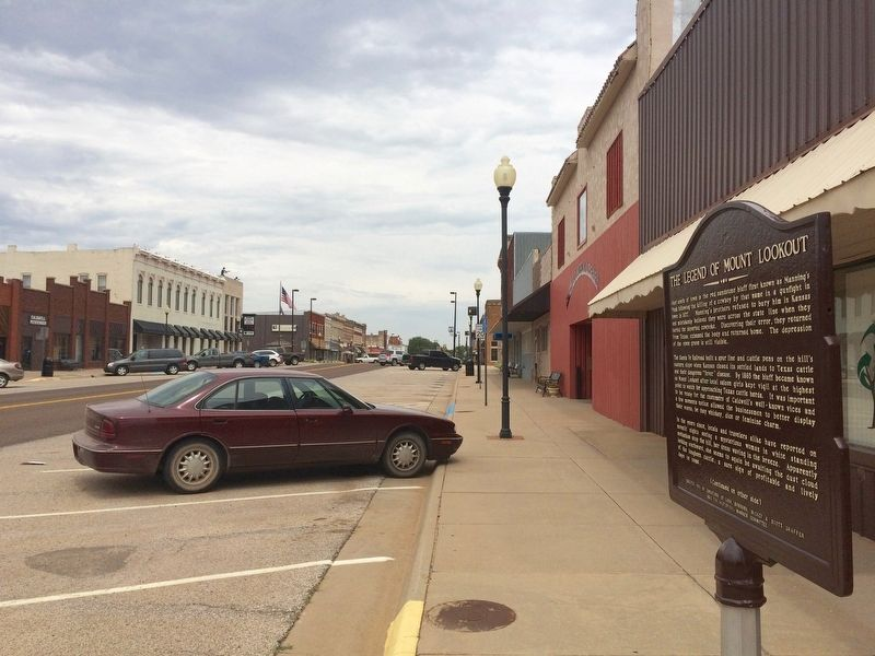 View from marker north on Main Street. image. Click for full size.