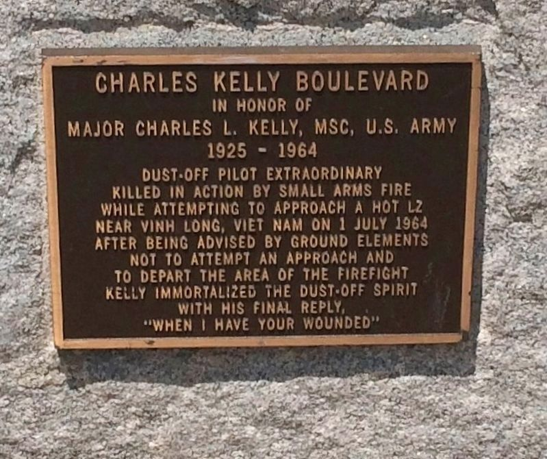 Charles Kelly Boulevard Marker image. Click for full size.