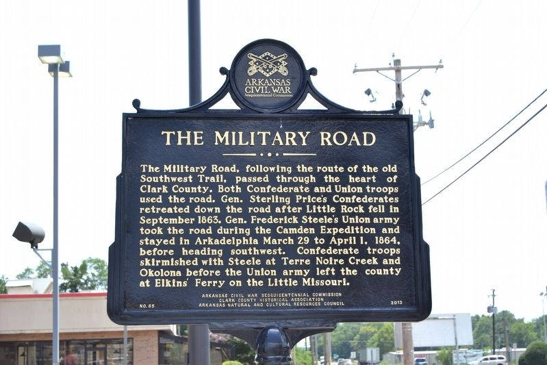 Confederate Manufacturing / The Military Road Marker image. Click for full size.