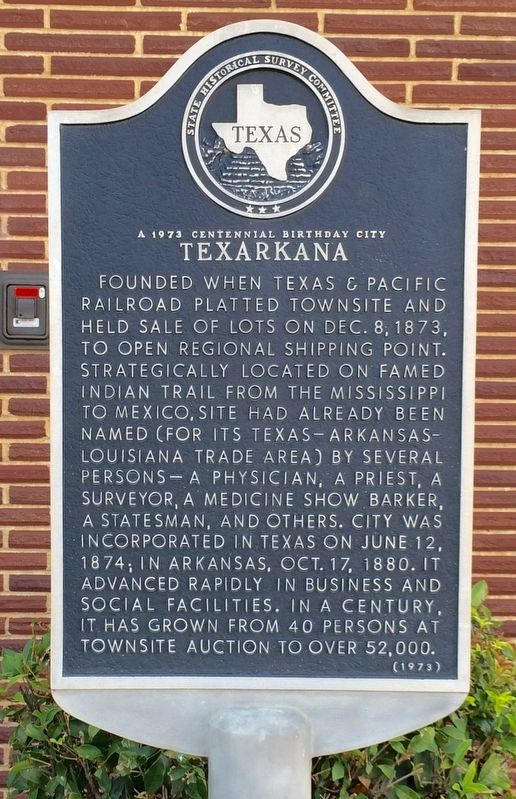 Texarkana Marker image. Click for full size.
