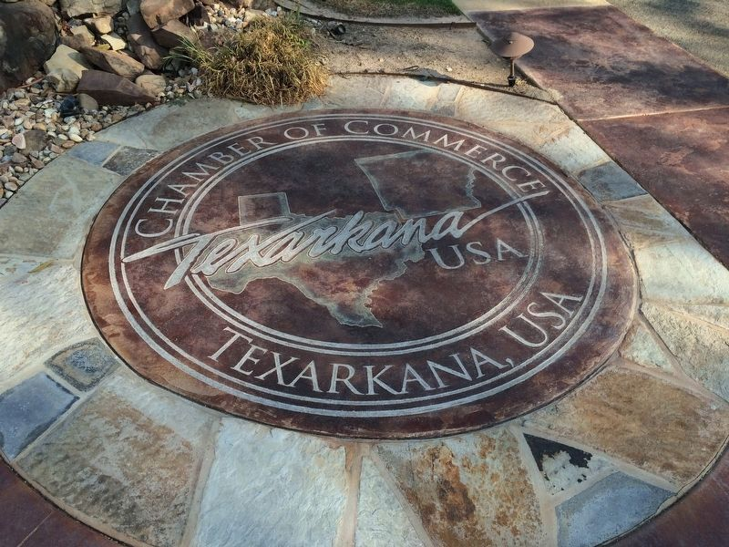 Texarkana Chamber of Commerce logo near marker. image. Click for full size.